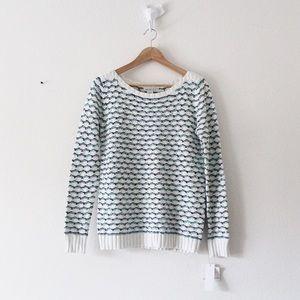 NWT Liz Claiborne Wavy Stripe Silver Stripe Shirt
